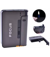 Портсигар Focus с зажигалкой черный