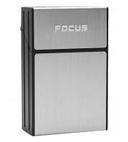 Портсигар для пачки сигарет Focus серый JD-YH035