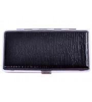 Портсигар для тонких сигарет Slim Черный (2381)