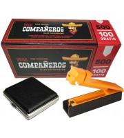 """Стартовый набор для набивки сигарет """"Новачек"""" — сигаретные гильзы 500 шт, машинка для набивки сигарет, портсигар"""