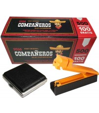 Набор для набивки сигарет — сигаретные гильзы, машинка для набивки сигарет, портсигар